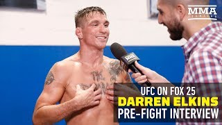 """At UFC on FOX 25 open workouts, Darren Elkins discusses his incredible comeback win over Mirsad Bektic, his """"The Damage""""..."""