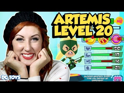 TEENY TITANS UPDATE Artemis Level 20 Level Up Game Play by DC Toys Collector