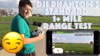 So so soooo many of you have been asking for a range test of my DJI Phantom 3 Standard and here is my go on this video:).