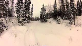 7. Arctic Cat 550 on Tiger Tracks at Zero Lake Road Ak.  part II