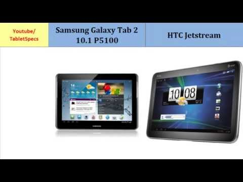 Samsung Galaxy Tablet II P5110  – HTC Jetstream, compared with