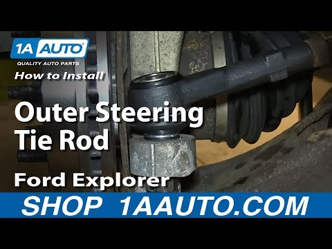 How To Install Replace Outer Steering Tie Rod 1998-2003 Ford Explorer Mercury Mountaineer