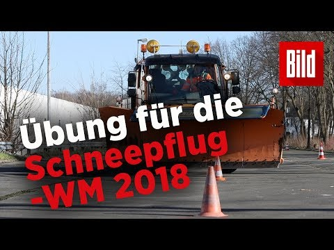 Schneepflug-Weltmeisterschaft in Kamen – So üben die Re ...