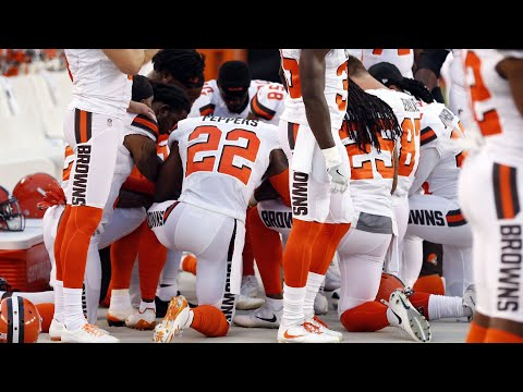 Browns players explain their national anthem protest (видео)