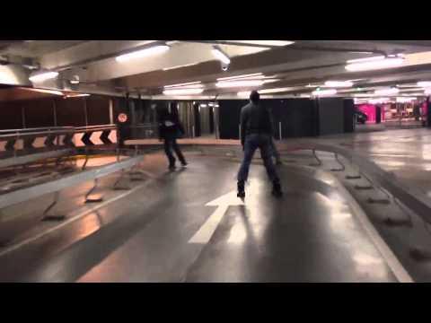 Skating down Westfield spiral car park
