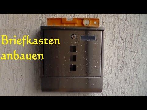DIY Briefkasten anbringen anbauen selber montieren - so einfach ist ein Briefkasten angebaut