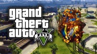 GTA 5 Funny Moments! - Jumbo Jet, Explosive Melee, Baywatch, Blimp From Hell (GTA V)