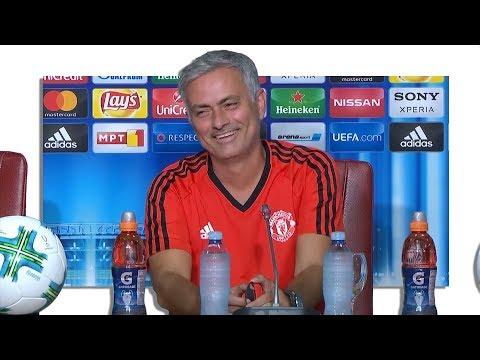 Jose Mourinho Pre-Match Press Conference - Real Madrid v Manchester United - UEFA Super Cup (видео)