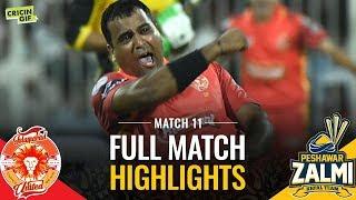 PSL 2019 Match 11: Islamabad United vs Peshawar Zalmi | Sprite Full Match Highlights