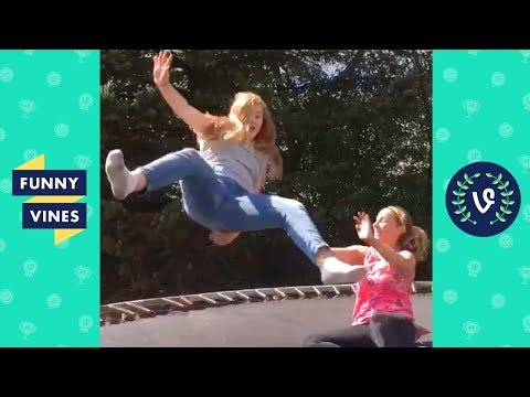 TRY NOT TO LAUGH CHALLENGE - Epic Trampoline Fails Compilation April 2018 | Funny Vines Videos