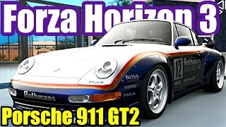 Friends race the 1995 Porsche 911 GT2 from the Porsche Car Pack DLC. Stock and RWB Wide Body Kit with Double Wing racing above average drivatars. MORE FORZA ...