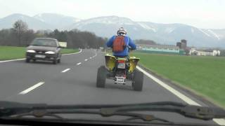 9. Suzuki LTZ 400 on road speed