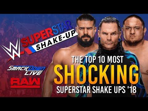 10 Most SHOCKING Shake Ups Of the 2018 Superstar Shake Up! 😲 (WWE 2K18)