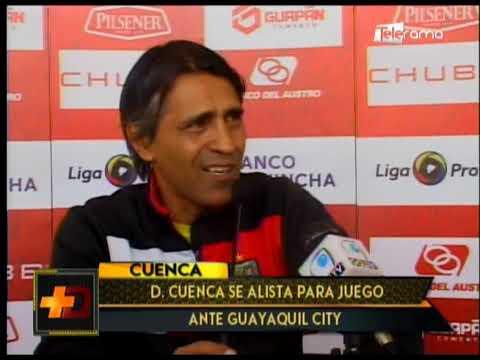 Deportivo Cuenca se alista para juego ante Guayaquil City