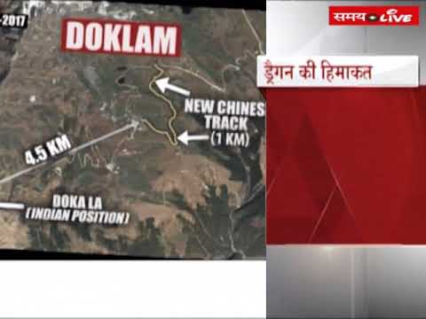 According to information of satellite pictures, China occupied north region of Doklam