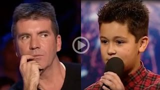 Original Title: Simon Cowell Humiliates a 12 Year Old Boy (Don't let the title fool you!) After Simon's typical rude behavior stopped this boy (Shaheen Jafargholi) ...