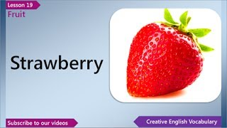 Fruit, English Vocabulary Lesson 19