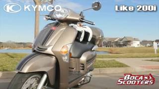 5. 2016 KYMCO LIKE 200i RETRO SCOOTER (Overview & Specs) by Boca Scooters