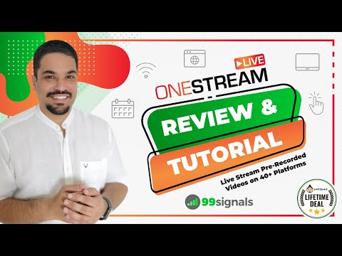 Watch 'OneStream Live Review & Demo: Live Stream Pre-Recorded Videos on 40+ Platforms'
