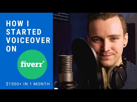 How I Started Voice Over on Fiverr and Made $1500+ a Month