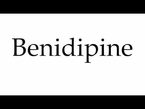 How to Pronounce Benidipine