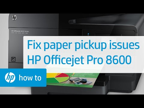 Fixing Your Printer When it Doesn't Pick Up Paper - HP Officejet Pro 8600 e-All-in-One Printer