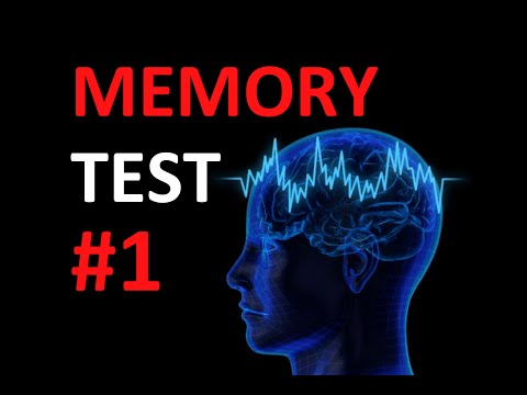 Memory Test: How good is your memory? #1