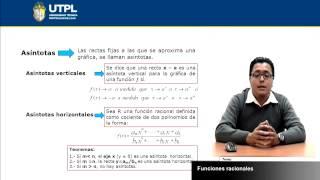 UTPL FUNCIONES RACIONALES [(INFORMÁTICA )(FUNDAMENTOS MATEMÁTICOS)]