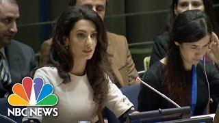 Amal Clooney Criticizes World Response To Yazidi Genocide | NBC News