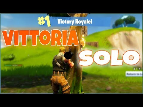 Fortnite - PC | Prima Vittoria In SOLO Su YT Italia!