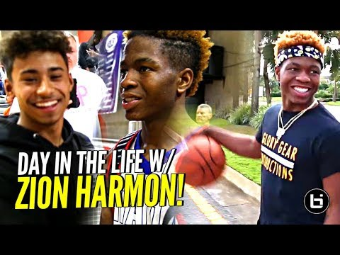Day In The Life w/ Zion Harmon!!! Gets a Visit From Julian Newman & More! The #1 9th Grader! (видео)