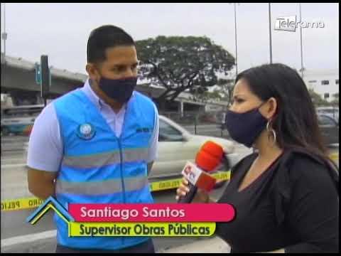 Se realizan trabajos de repavimentación en avenida Quito y Justino Coronel