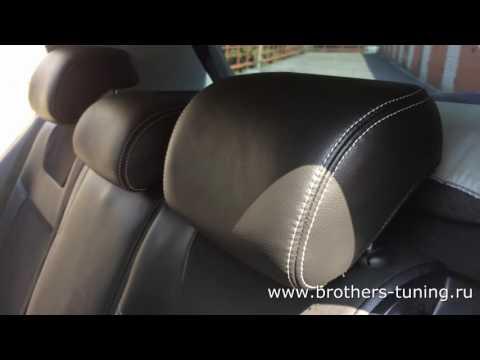 """Чехлы на Volkswagen Golf 6, серии """"Alcantara"""" - серая строчка"""