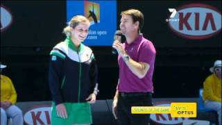 Woodbridge Australia  city pictures gallery : Kim Clijsters chided commentator Todd Woodbridge at the Australian Open