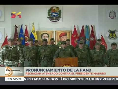 Pronunciamiento completo del Alto Mando Militar tras atentado contra Nicolás Maduro