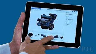 Arbortext 3D Service Information on iPAD