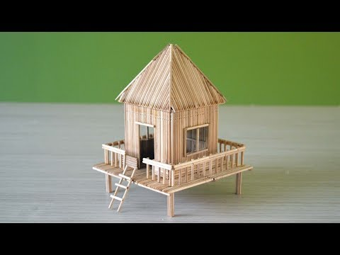 Making a small hut using toothpicks | very easy craft | DIY