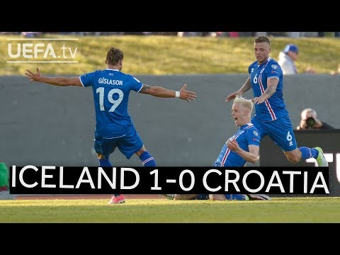 ICELAND strike late to defeat CROATIA in FIFA WORLD CUP QUALIFIER