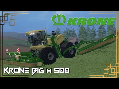 Krone BiG M500 Wide Single Windrow v1