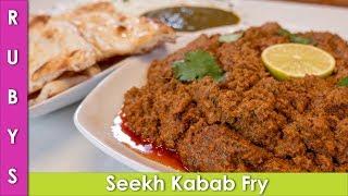 Seekh Kabab Fry Instant Pot Recipe Waheed Style in Urdu Hindi  - RKK