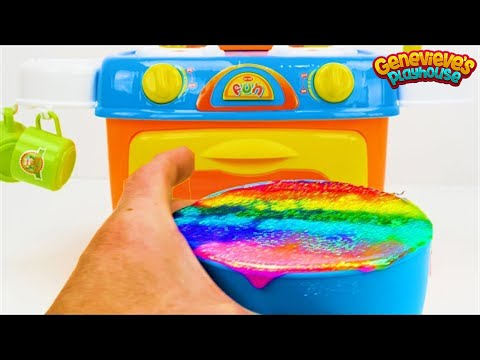 Toy Learning Video for Toddlers - Learn Shapes, Colors, Food Names, Counting with a Birthday Cake!