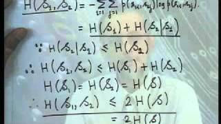 Mod-01 Lec-05 Properties Of Joint And Conditional Information Measures And A Markov Source