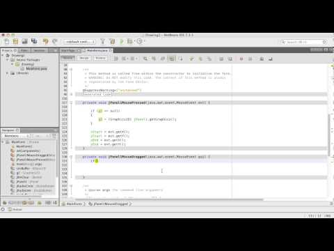 Simple Drawing Java Tutorial with Netbeans – German