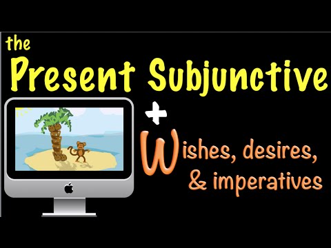 Spanish Present Subjunctive with Wishes, imperatives & desires (W)