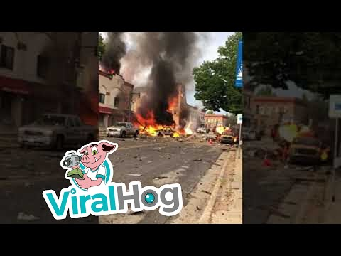Building Destroyed by Gas Leak Explosion || ViralHog