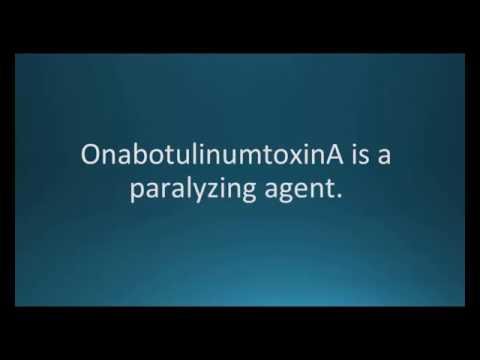 How to pronounce onabotulinumtoxinA (Memorizing Pharmacology Video Flashcard)