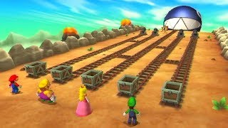 Mario Party 9 Boss Minigames - Mario vs Wario vs Peach vs Luigi