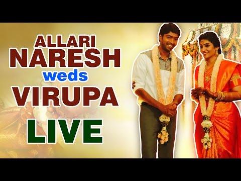 Allari Naresh Weds Virupa - Live | EVV Family | Aryan Rajesh