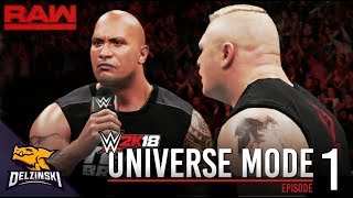 Video WWE 2K18 Universe Mode - RAW Ep.1: The Rock interrupts Brock Lesnar! MP3, 3GP, MP4, WEBM, AVI, FLV Oktober 2017