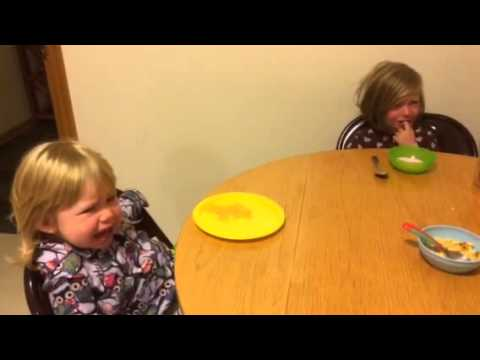 My kids crying at breakfast